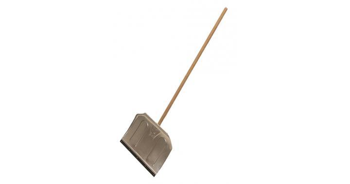 Лопата алюминиевая с деревянным черенком