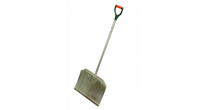 Aluminum snow shovel with comfortable D-grip handle